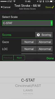 stroke scores
