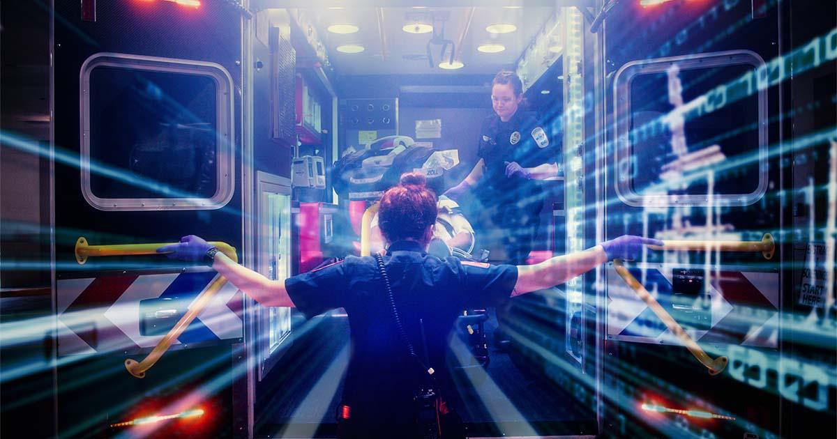 medic-opening-back-of-ambulance